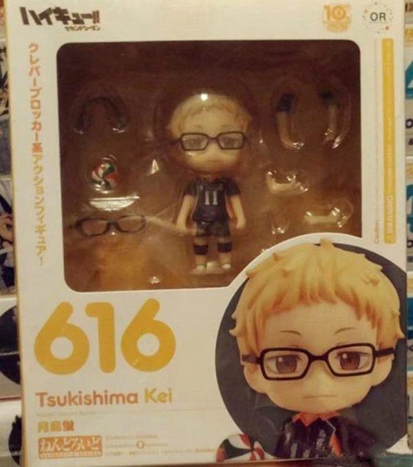 Haikyuu Kei Tsukishima 616 PVC Action Figure Anime Haikyuu Tsukishima Cute Model Toy Figurine 100mm 3 - Haikyuu Merch Store