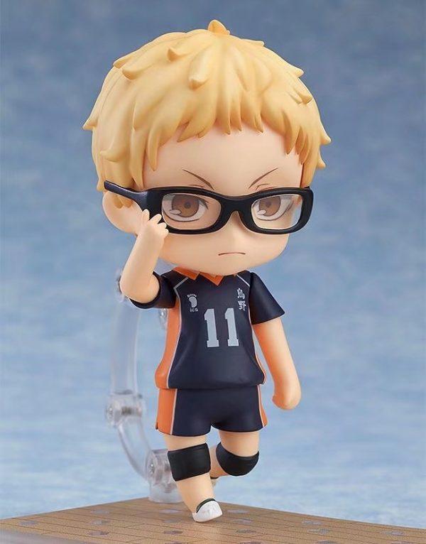 Haikyuu Kei Tsukishima 616 PVC Action Figure Anime Haikyuu Tsukishima Cute Model Toy Figurine 100mm 4 - Haikyuu Merch Store