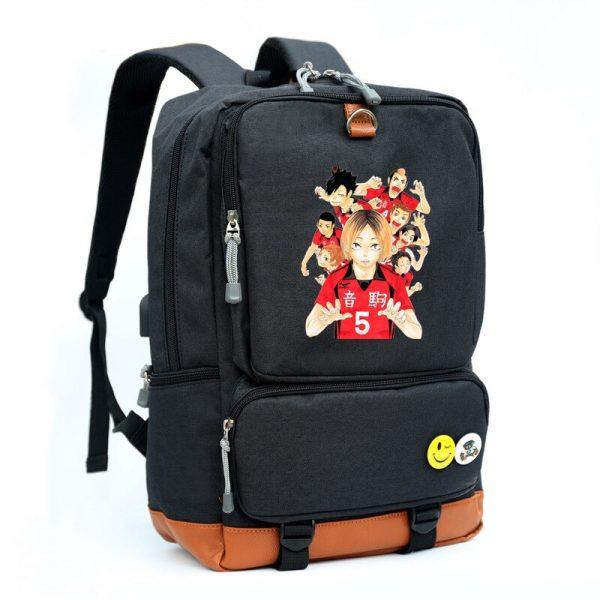 Hinata Shoyo Kozume Kenma Cosplay Bag Haikyuu Printing Canvas School bag Backpacks for men and women 1 - Haikyuu Merch Store