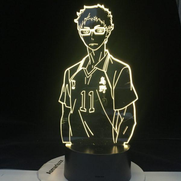 KEI TSUKISHIMA LED ANIME LAMP HAIKYUU Manga Gift Anime 3d Lamp Night Light Lamp Otaku Gift - Haikyuu Merch Store