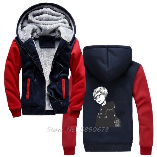 Men s Hoodies Tsukishima Kei Vintage Haikyuu Anime Men Winter Thick Keep Warm Hoodies Sportswear Sweatshirts 3 - Haikyuu Merch Store