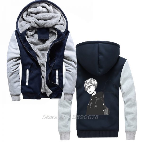 Men s Hoodies Tsukishima Kei Vintage Haikyuu Anime Men Winter Thick Keep Warm Hoodies Sportswear Sweatshirts - Haikyuu Merch Store