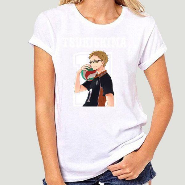 New Style Tsukishima Kei Haikyuu Anime T Shirt Funko Pop Mens Clothes O neck Cotton Big 11.jpg 640x640 11 - Haikyuu Merch Store