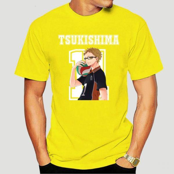 New Style Tsukishima Kei Haikyuu Anime T Shirt Funko Pop Mens Clothes O neck Cotton Big 12.jpg 640x640 12 - Haikyuu Merch Store