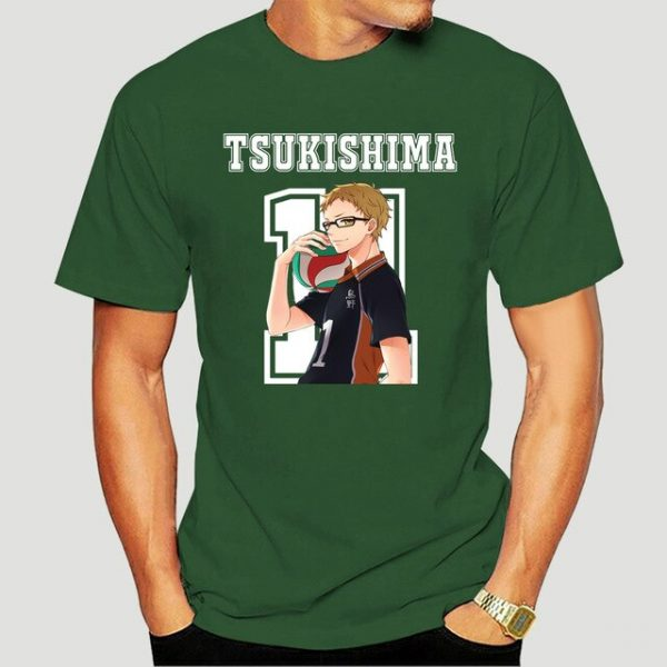 New Style Tsukishima Kei Haikyuu Anime T Shirt Funko Pop Mens Clothes O neck Cotton Big 6.jpg 640x640 6 - Haikyuu Merch Store