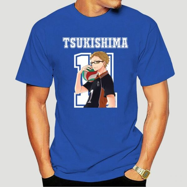 New Style Tsukishima Kei Haikyuu Anime T Shirt Funko Pop Mens Clothes O neck Cotton Big 8.jpg 640x640 8 - Haikyuu Merch Store