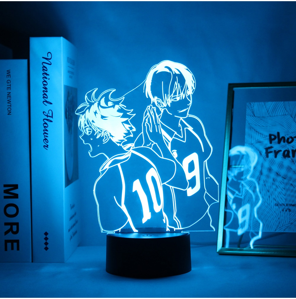 Haikyuu Lamp Merch: Hinata Shoyo & Kageyama Tobio Led Lamp