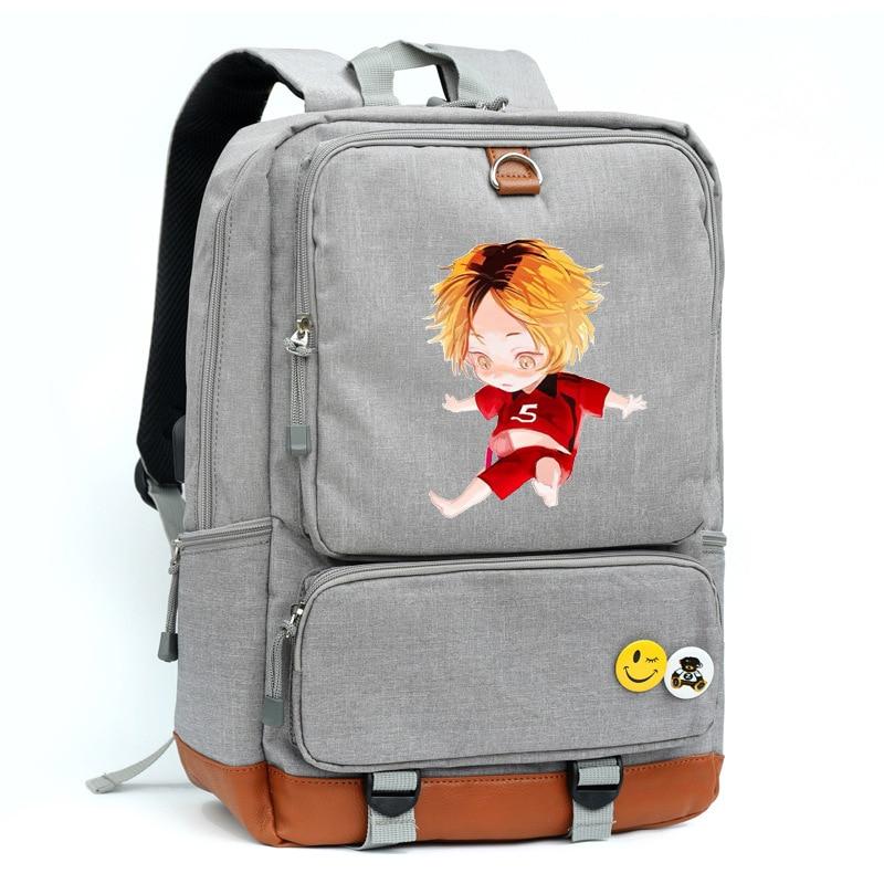 Hinata Shoyo Kozume Kenma Cosplay Bag Haikyuu!! Printing Canvas School bag Backpacks for men and women
