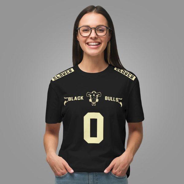 personalized black bull uniform unisex t shirt - Haikyuu Merch Store