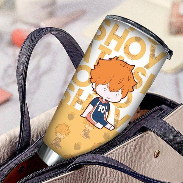 personalized chibi hinata shoyo tumbler - Haikyuu Merch Store