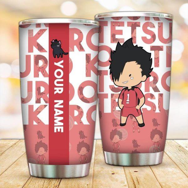 personalized chibi kuroo tumbler - Haikyuu Merch Store