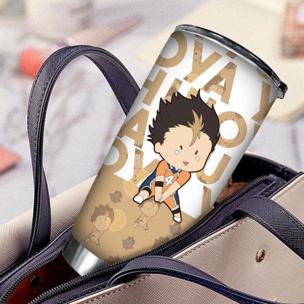 personalized chibi nishinoya tumbler - Haikyuu Merch Store