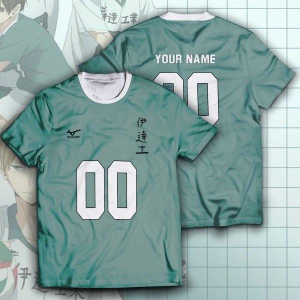 personalized datekou libero unisex t shirt - Haikyuu Merch Store