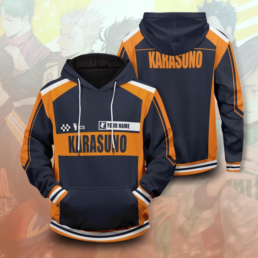 personalized f1 karasuno unisex pullover hoodie - Haikyuu Merch Store