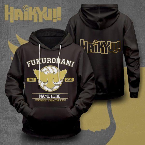 personalized fukurodani strongest from the east unisex pullover hoodie - Haikyuu Merch Store