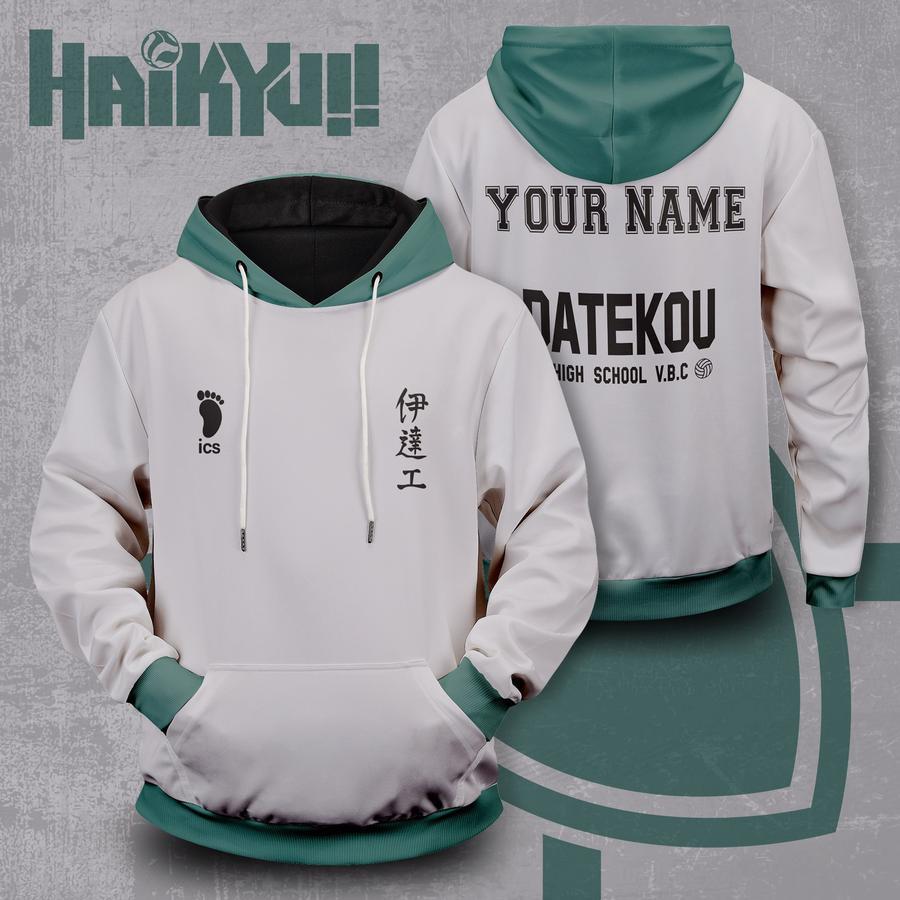 personalized haikyuu datekou unisex pullover hoodie - Haikyuu Merch Store