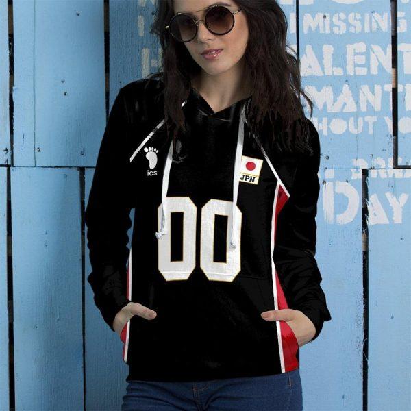 personalized haikyuu national team libero unisex pullover hoodie - Haikyuu Merch Store