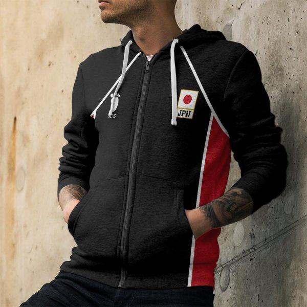 personalized haikyuu national team libero unisex zipped hoodie - Haikyuu Merch Store