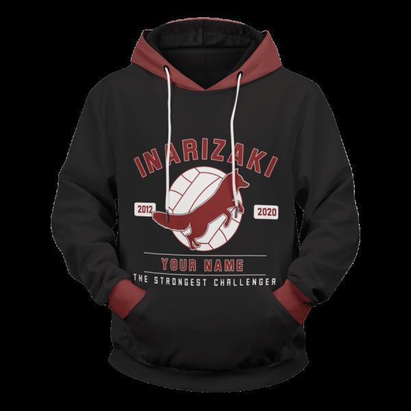 personalized inarizaki the strongest challenger unisex pullover hoodie - Haikyuu Merch Store