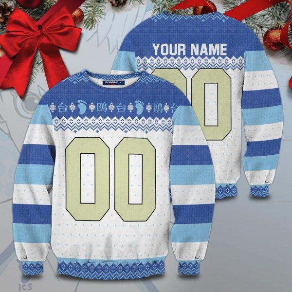 personalized kamomedai christmas unisex wool sweater - Haikyuu Merch Store