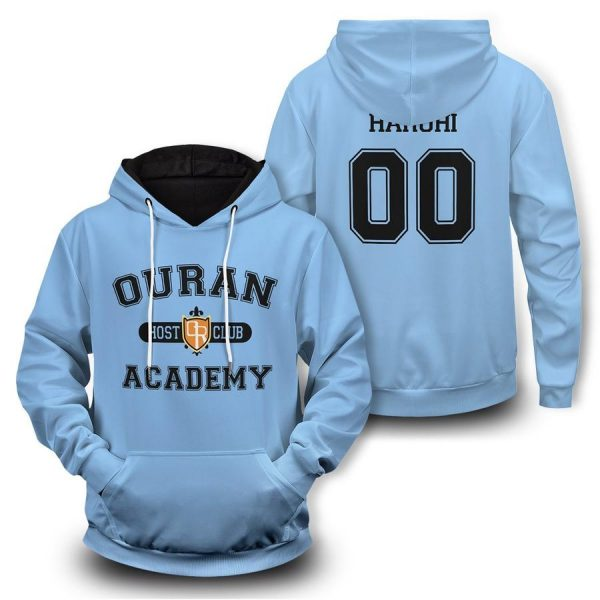 personalized ouran academy unisex pullover hoodie - Haikyuu Merch Store