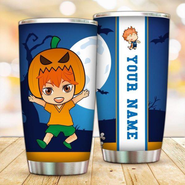 personalized pumpkin hinata shoyo tumbler - Haikyuu Merch Store