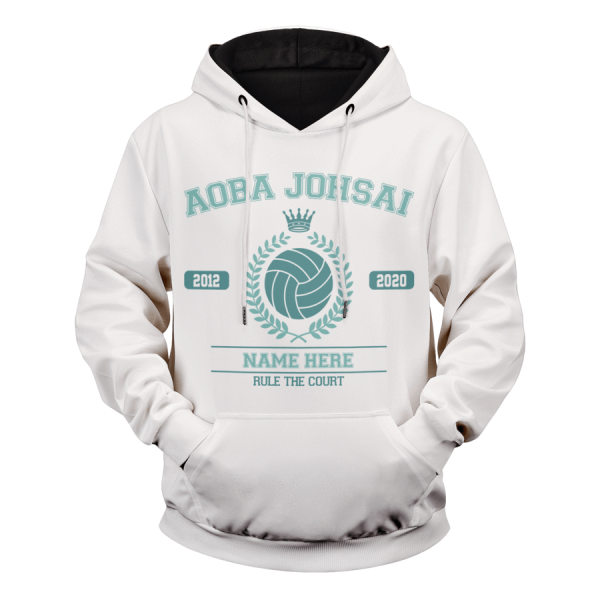 personalized seijoh rule the court unisex pullover hoodie - Haikyuu Merch Store