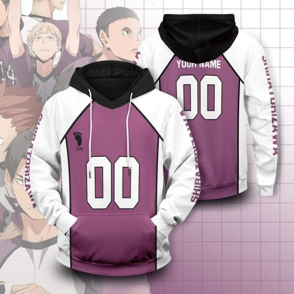 personalized shiratorizawa libero unisex pullover hoodie - Haikyuu Merch Store