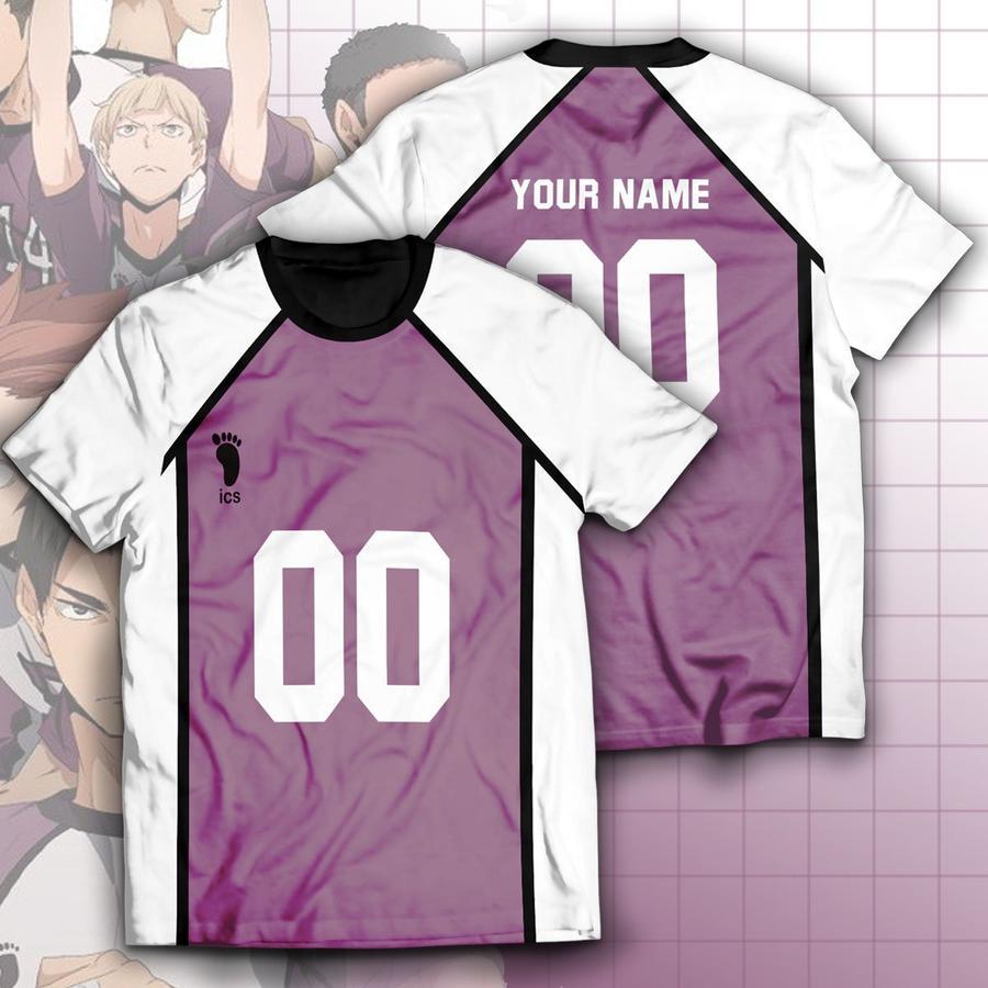 personalized shiratorizawa libero unisex t shirt - Haikyuu Merch Store