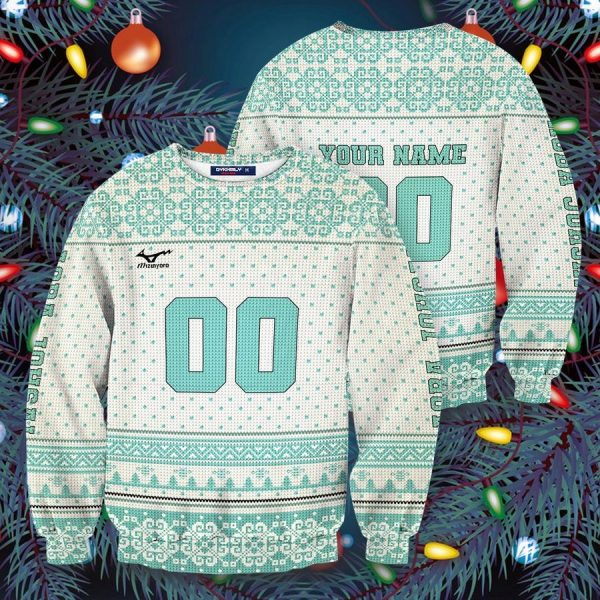 personalized team aoba johsai christmas unisex wool sweater - Haikyuu Merch Store