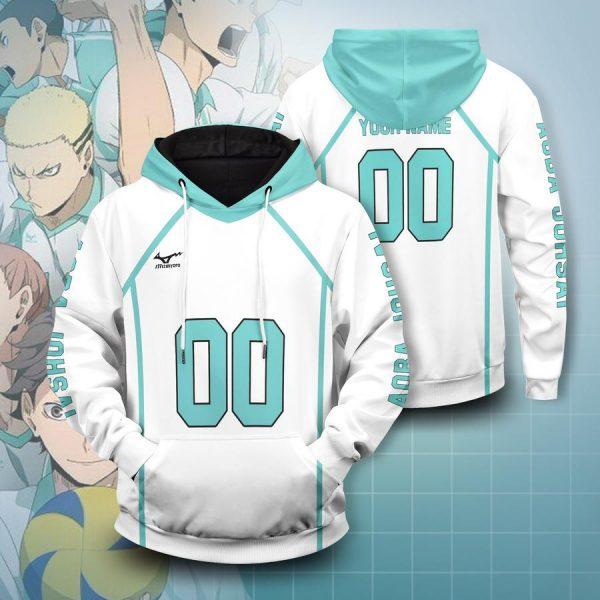 personalized team aoba johsai unisex pullover hoodie - Haikyuu Merch Store