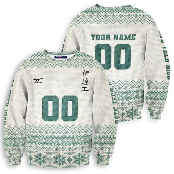 personalized team datekou christmas unisex wool sweater - Haikyuu Merch Store