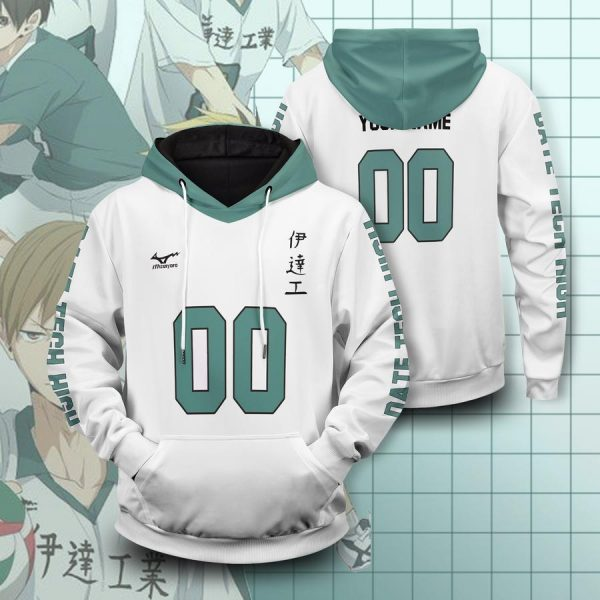 personalized team datekou unisex pullover hoodie - Haikyuu Merch Store