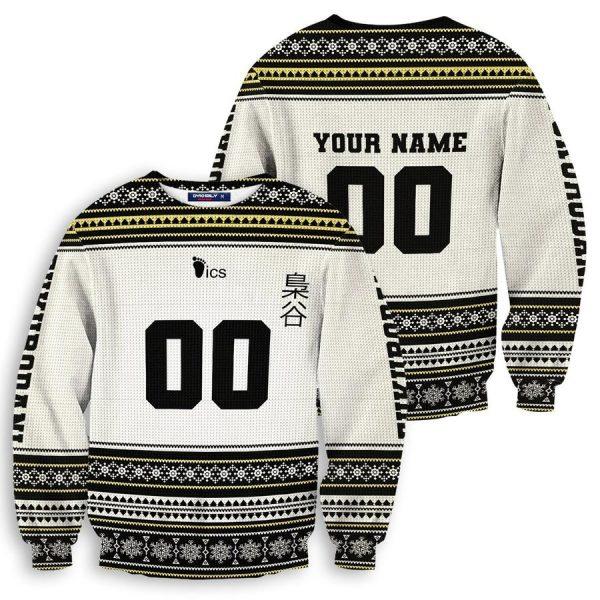 personalized team fukurodani christmas unisex wool sweater - Haikyuu Merch Store