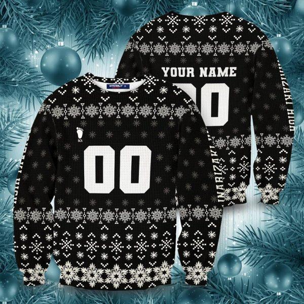 personalized team inarizaki christmas unisex wool sweater - Haikyuu Merch Store