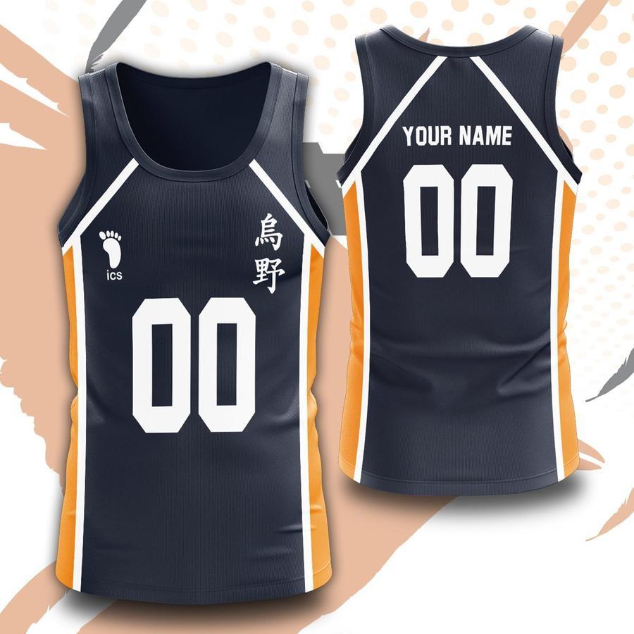 personalized team karasuno unisex tank tops - Haikyuu Merch Store