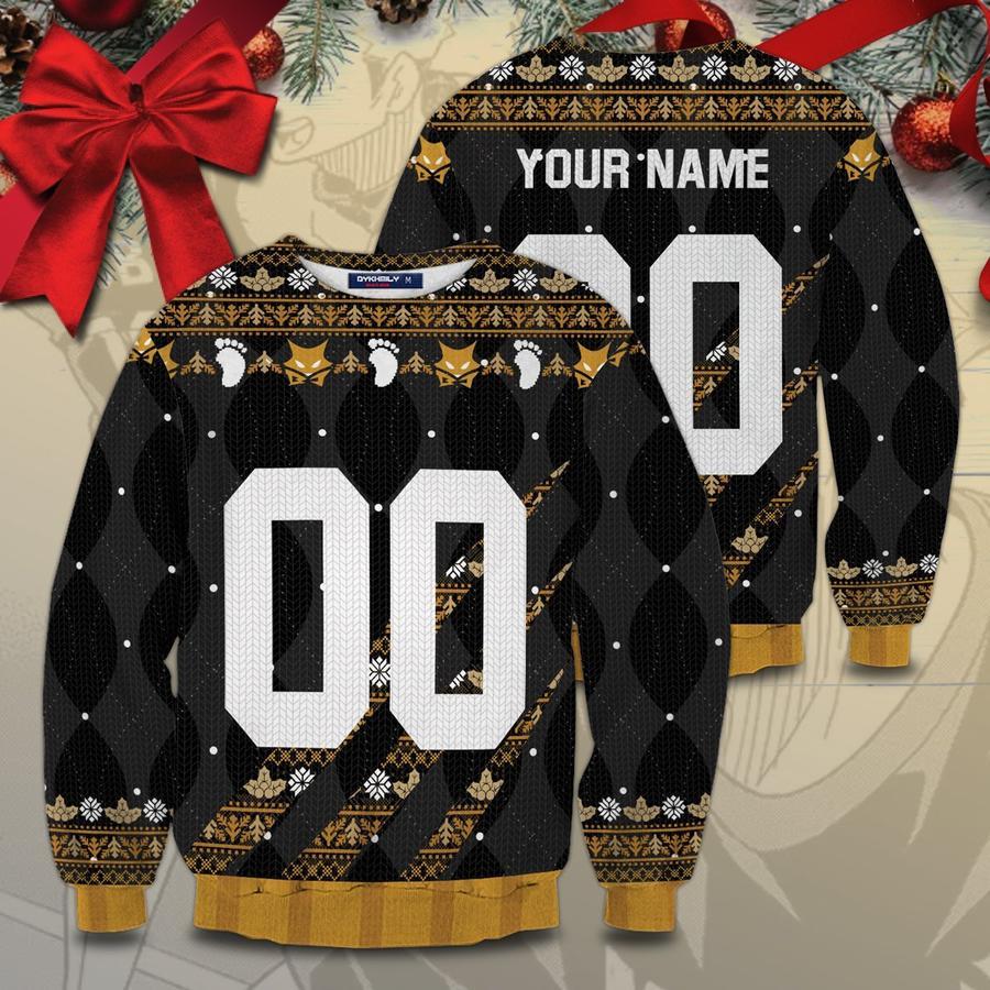 personalized team msby black jackals christmas unisex wool sweater - Haikyuu Merch Store
