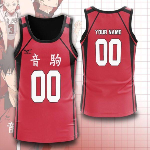 personalized team nekoma unisex tank tops - Haikyuu Merch Store