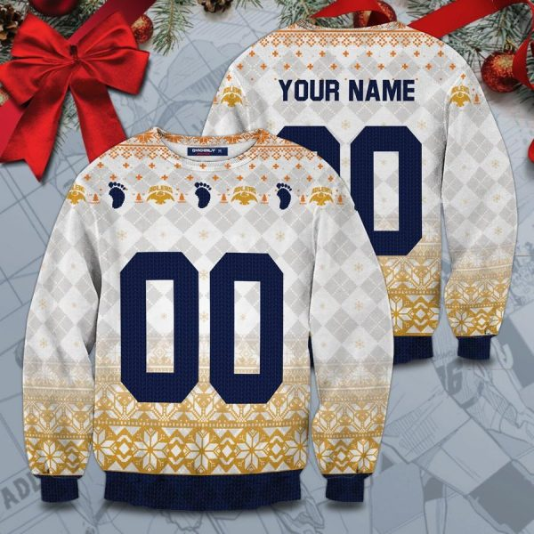 personalized team schweiden adlers christmas unisex wool sweater - Haikyuu Merch Store