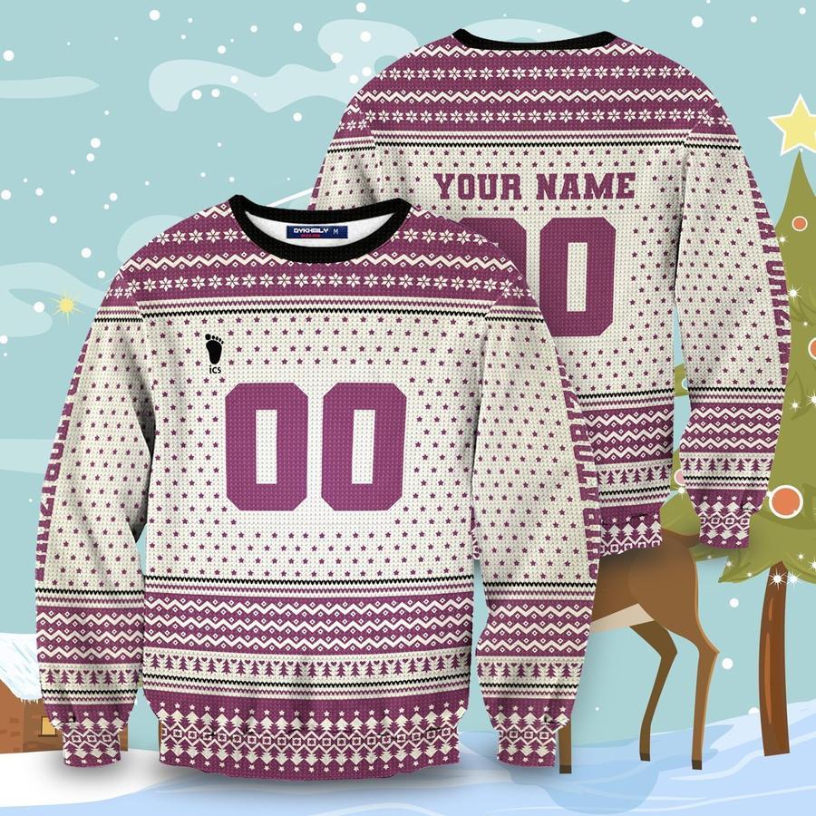 personalized team shiratorizawa christmas unisex wool sweater - Haikyuu Merch Store