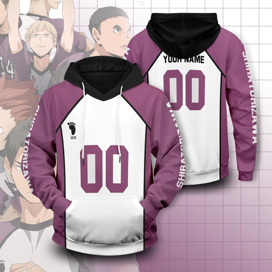 personalized team shiratorizawa unisex pullover hoodie - Haikyuu Merch Store