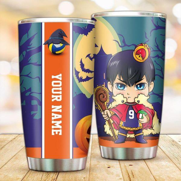 personalized wizard tobio kageyama tumbler - Haikyuu Merch Store