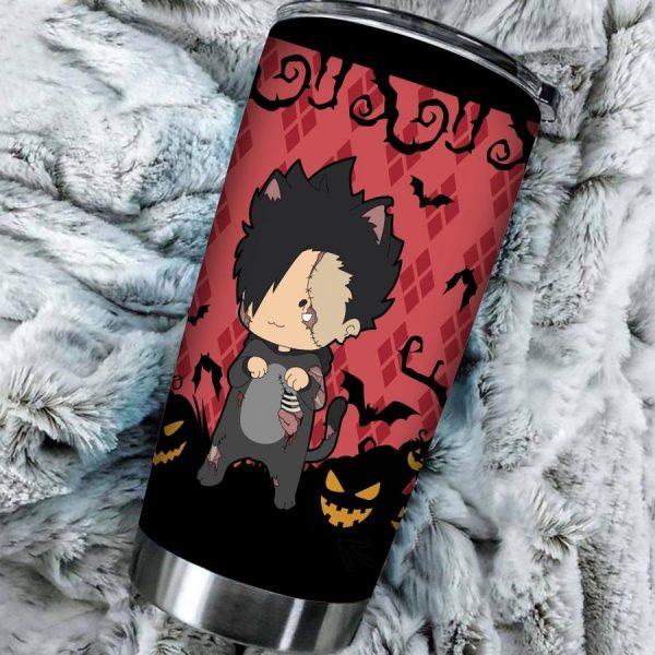 personalized zombie cat tetsuro kuroo tumbler - Haikyuu Merch Store